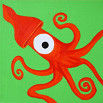 Orange Squid