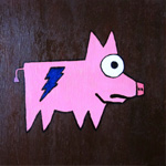 Lightning bolt tattoo Pig